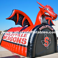 Shelbyville Dragons Football Mascot Tunnel.JPG