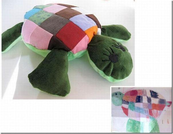 Brinquedos de pelúcia feitos a partir de desenhos de crianças (17)