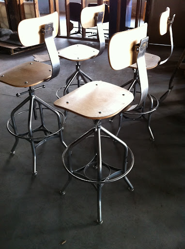 toledo reproduction stool Vintage Industrial Furniture