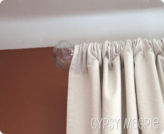 Made-over Ikea Curtain Finials