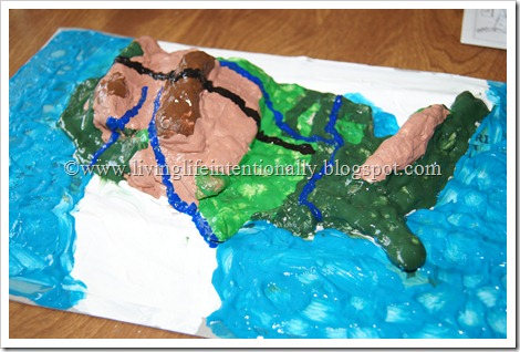 Geography Fun with a Salt Dough Maplife magazine photographs
