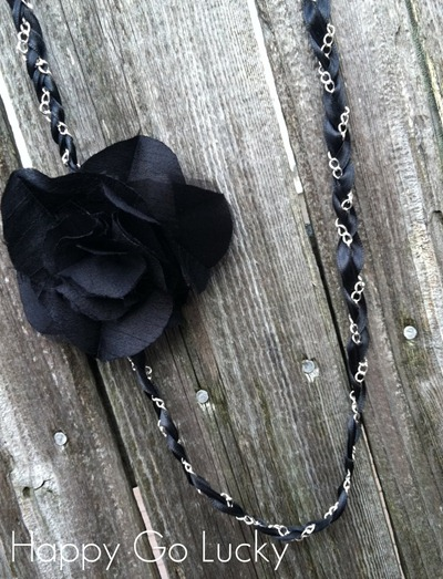 ribbon chain necklace tutorial