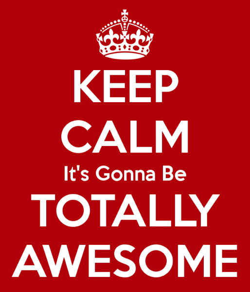 Keep calm it s gonna be totally awesome 54