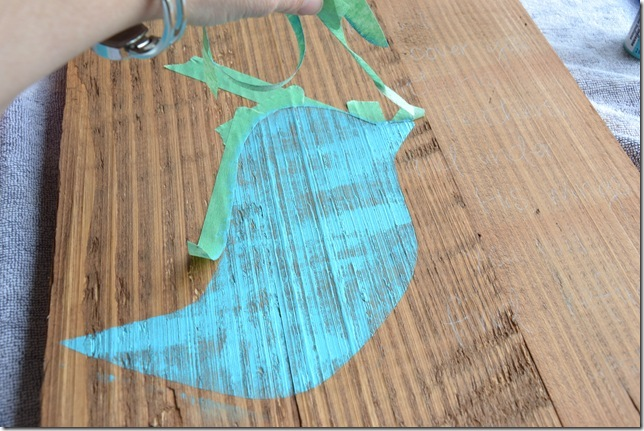 Rustic Blue Bird Sign Tutorial