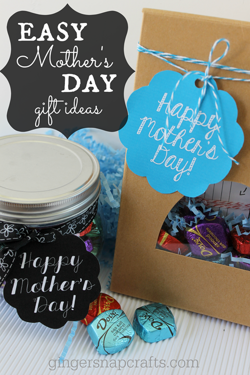 Easy Mother's Day Gift Ideas from GingerSnapCrafts.com #sharethedove #spon