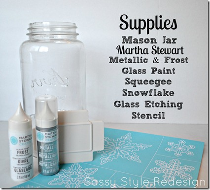 snowflake jar supplies