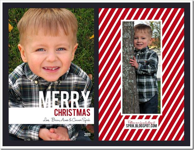 Sprik Family Christmas Card 2011