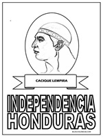 Worksheet. Colorear prceres de la independencia de Honduras  Colorear