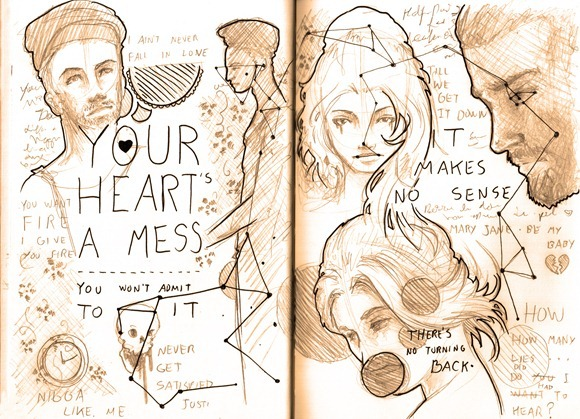 Sketch your hearts a mess