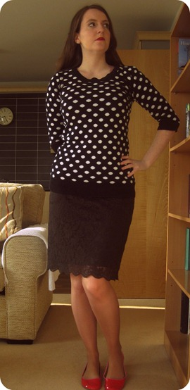 outfit post, outfit of the day, personal style, work wear, pencil skirt, TKMaxx
