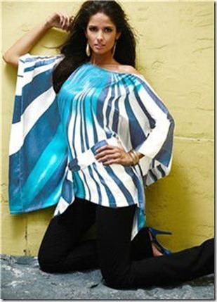 ladies_bat_sleeve_blouse_bat_wing_sleeve_blouse_printed_satin_blouse