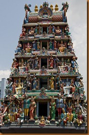 Hindu temple entrance Singapore
