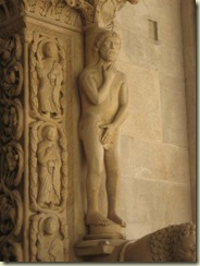 Statue of Adam - Cathedral - Navel (Small)