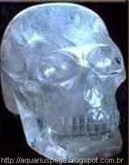 crânio de cristal peruano