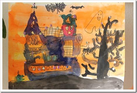 26 октября. Зарисовка на хэловинскую тему. Haunted House, иными словами - Дом ужасов, или резиденция семейки Адамсов:-)))