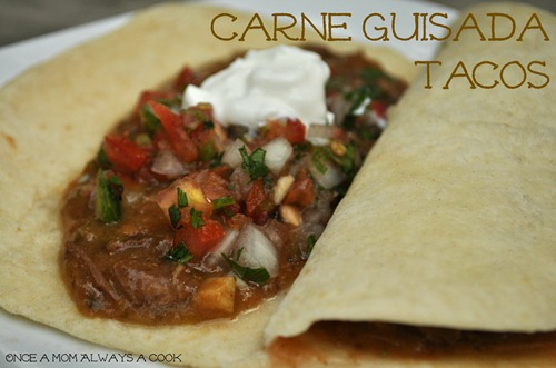 Carne Guisada Tacos
