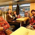 Dans le train pour Eskilstuna..........