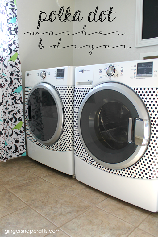 Polka Dot Washer & Dryer at GingerSnapCrafts.com #happycrafters #ad