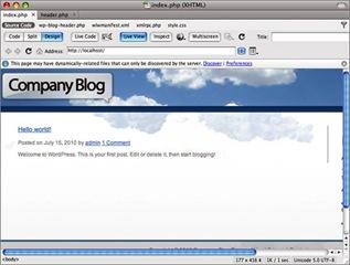 Prévisualiser le logo pour personnaliser un thème Wordpress avec Dreamweaver