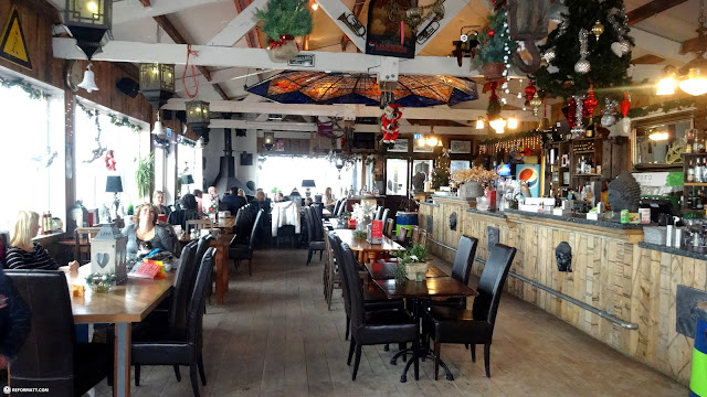 inside the Beach Inn pavilion in Holland in IJmuiden, Noord Holland, Netherlands