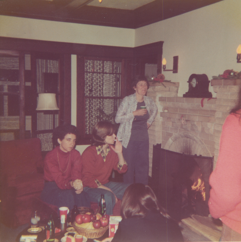 Christmas eve party at Brenda Weathers and Nicki Toomey's house. 1975.