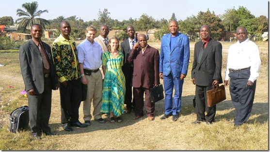 Evangelism Team Members with Synod Leadership of Katanga Province
