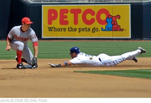 'Gerut stealing second base' photo (c) 2008, SD Dirk - license: https://creativecommons.org/licenses/by/2.0/