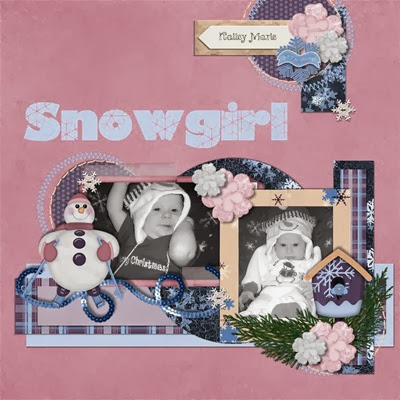 Snowy Christmas - Snowgirl