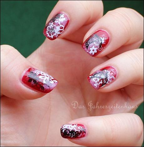 Floral Grunge Nails 4
