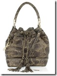 Milly Snake Print Leather Bag