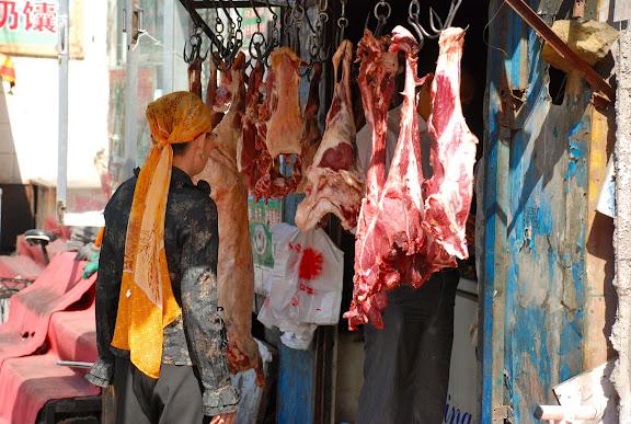 Urumqi - Chez le boucher