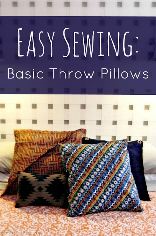 Easy Sewing Basic Throw Pillows