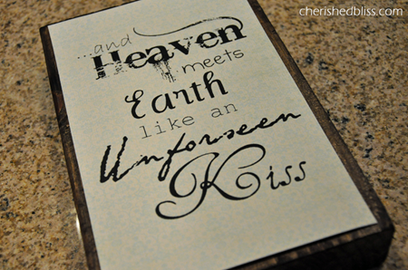 heaven meets earth decoupage