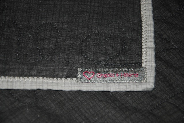 Papas Quilt Binding and tag