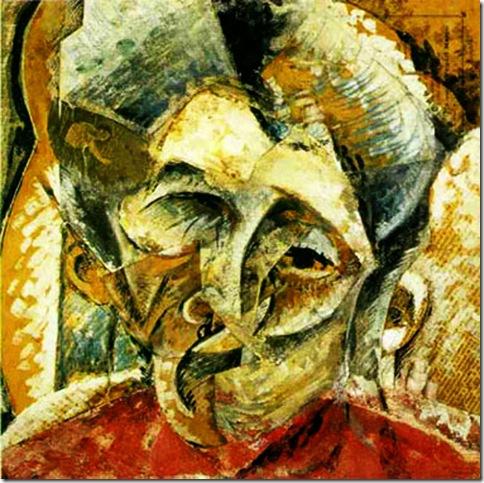 Umberto Boccioni, Dinamismo di una testa di donna, 1914
