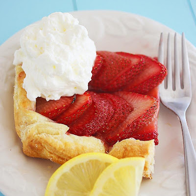 3-Ingredient Strawberry Tart with Lemon Whipped Cream