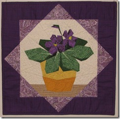 Dad's quilts violets
