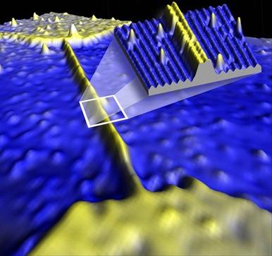 microscópio por tunelamento mostra um fio em escala atômica