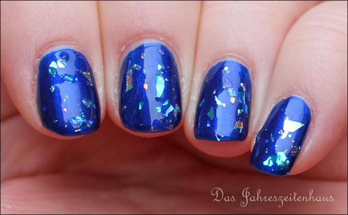 0 Blaue Flakies H&M Glitzerlack weiß 5