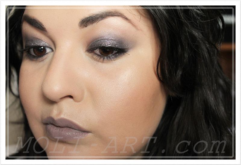 maquillaje-sencillo-en-color-topo-marrones-lilas