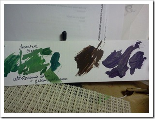 Dress paint swatches