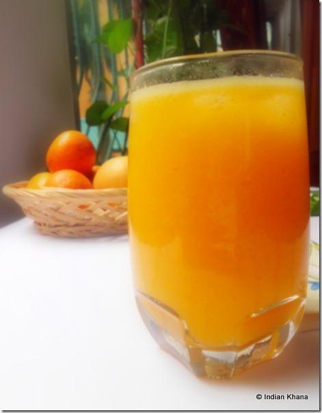 Fruit Juice Cooler recipe orange pear