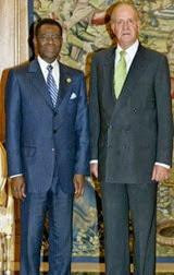 Su Majestad el Rey y el Presidente de Guinea Ecuatorial, el Excmo. Sr. Teodoro Obiang Nguema