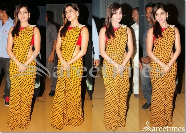 Samantha_Polka_Dots_Saree