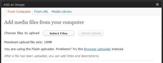bandwidth--wordpress image upload