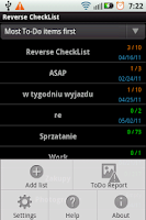 Screenshot of Reverse CheckList