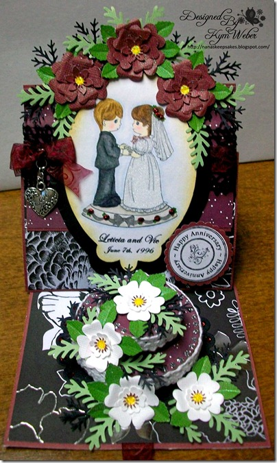 Anniversary Easel Cake Card1