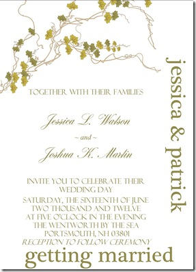 Green Moss Invitation