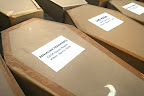 Coffin-shaped cartons bear names of slain journalists killed since 1986. (Photo by Janess Ann J. Ellao/Bulatlat.com)