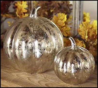 pumpkins mercury glass